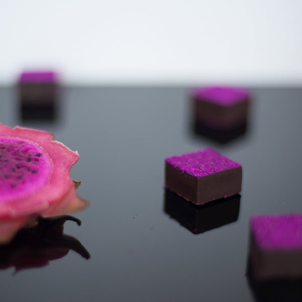 Feel Good Chocolates - Dragonfruit + Black Sesame Superfood Dark Chocolate