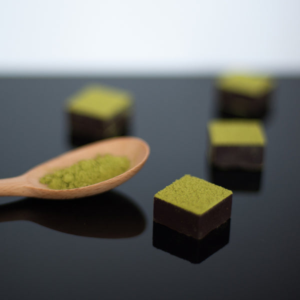 Feel Good Chocolates - Matcha + Cacao Nibs Superfood Dark Chocolate