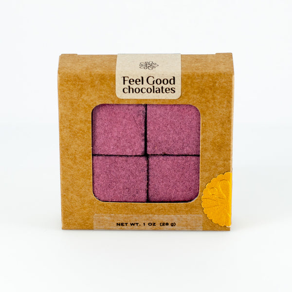 Feel Good Chocolates - Raspberry + Quinoa Superfood Dark Chocolate