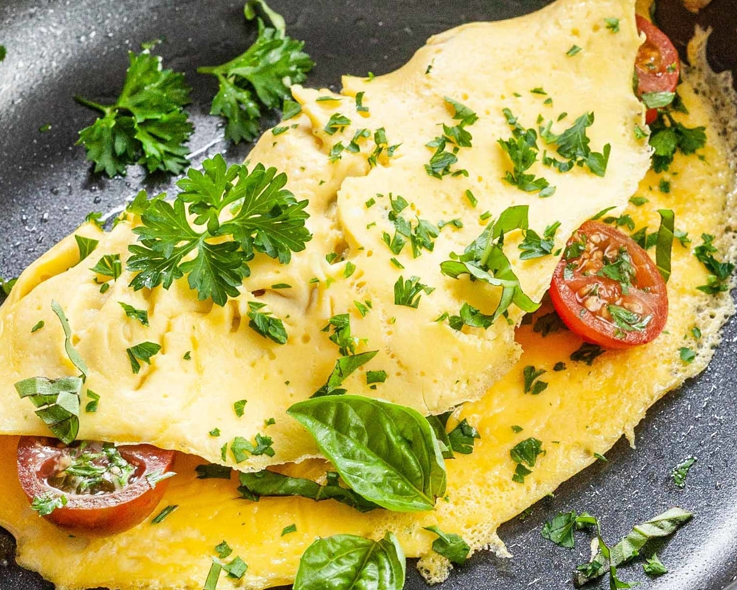Herbal Infused Mediterranean Omelette