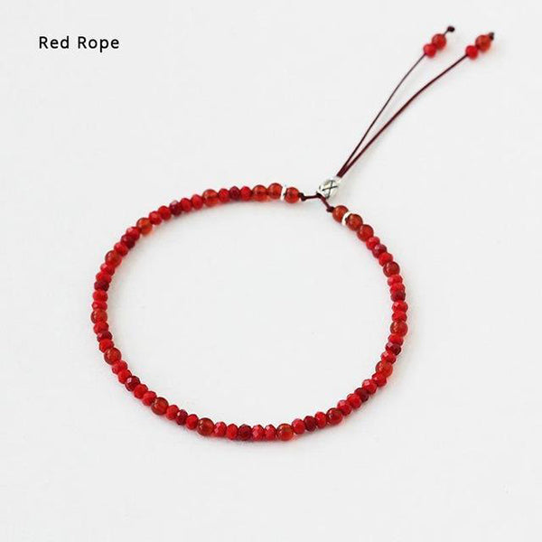 Lucky Handmade Buddhist Beads Red Rope Bracelet