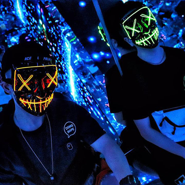 🎃Halloween Special🎃 Party & Rave Glow Purge Mask