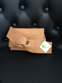 Tan Bow Clutch