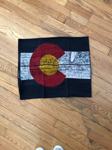 Black Colorado flag scarf