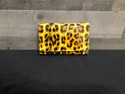Shiny leopard wallet