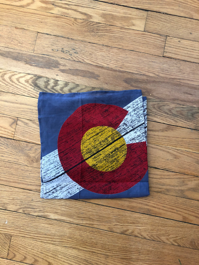 Light blue Colorado flag bandana