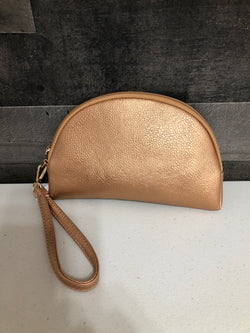 Rose gold makeup bag