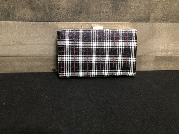 Plaid sparkly evening bag