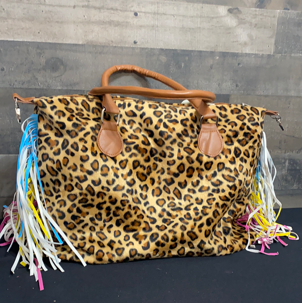 Leopard with colorful fringe