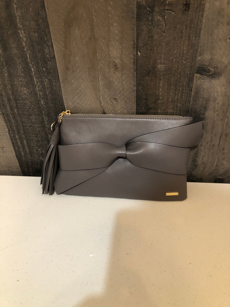 Bow purse-gray