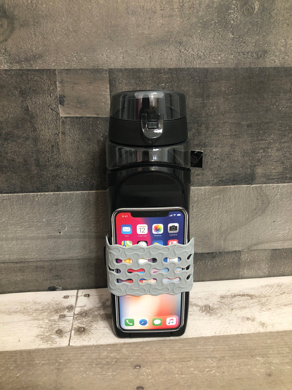 Phone band water bottle