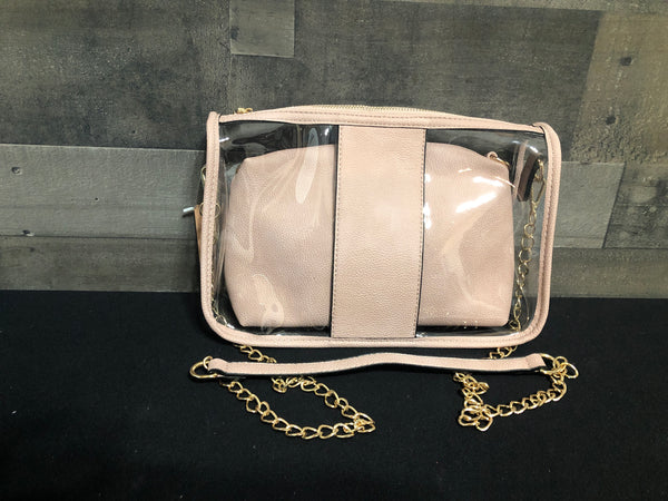 Pink clear purse