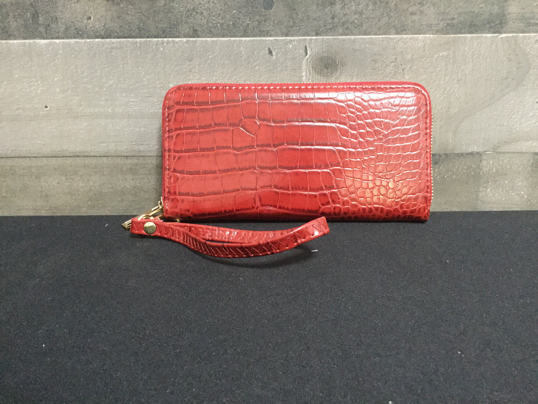 Leather like red wallet