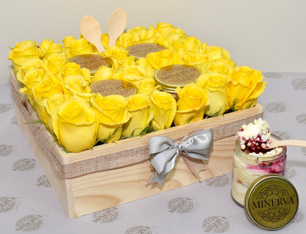 ONE SWEET DAY! LAYERED CAKE JARS AND ROSES BOX