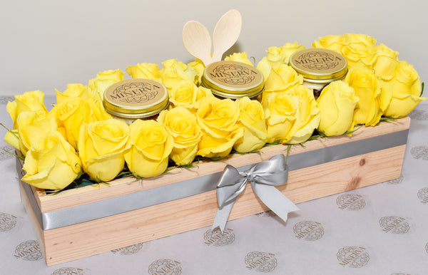 HAPPY DAY! LAYERED CAKE JARS AND ROSES BOX