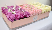 SANTA BARBARA COLOR GRADIENTS BOX - Lavender, pink and white roses