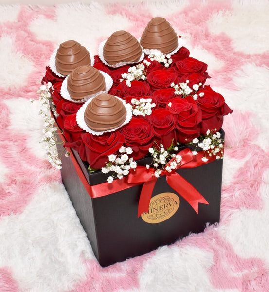 VENICE BOX WITH COVERED STRAWBERRIES