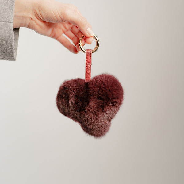 REX KEY RING-BURGUNDY
