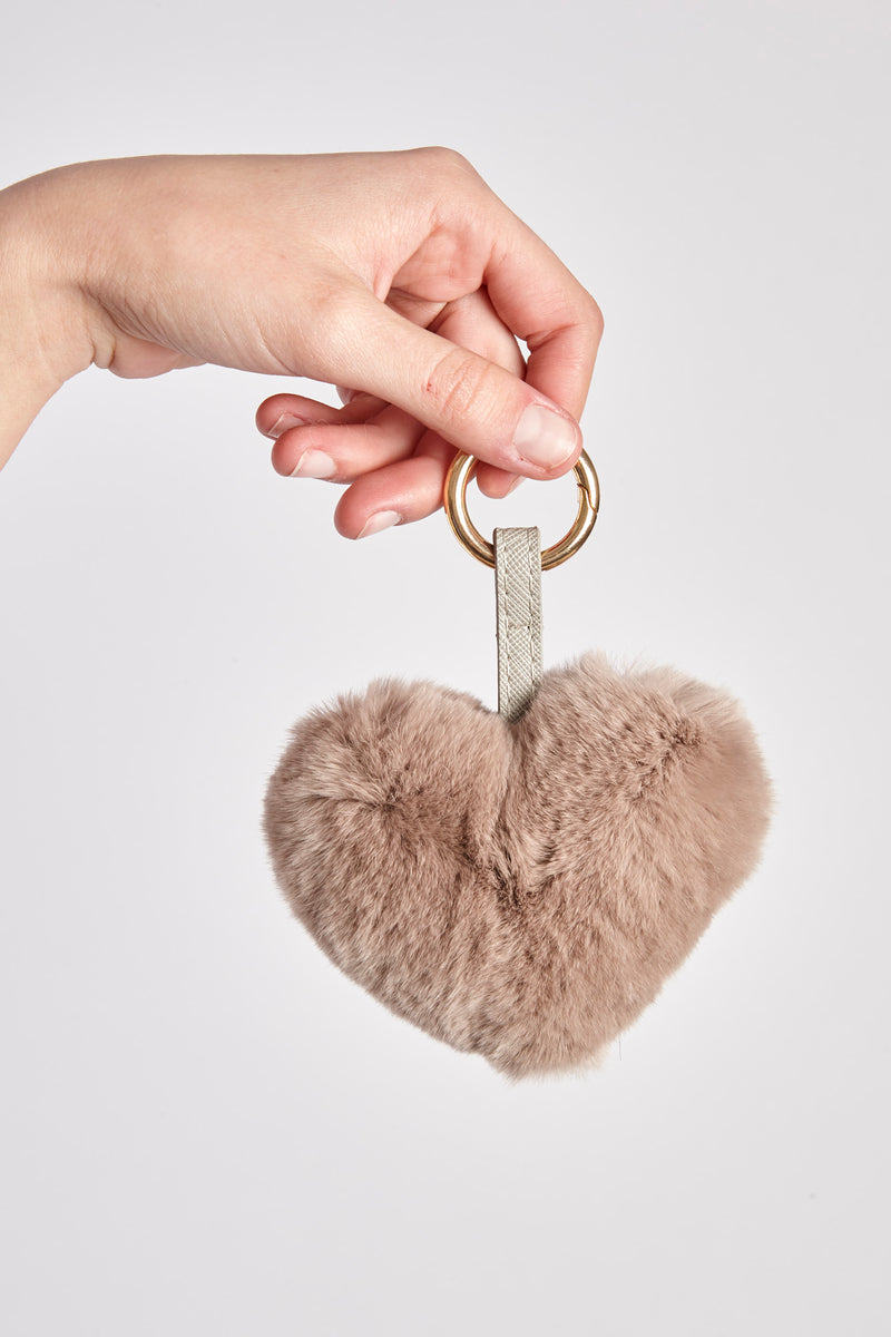 REX KEY RING-TAUPE