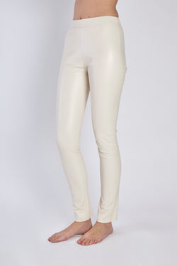 LEATHER LEGGING IVOIRE