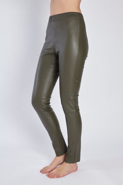 LEATHER LEGGING KAKI