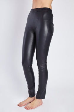 LEATHER LEGGING NAVY