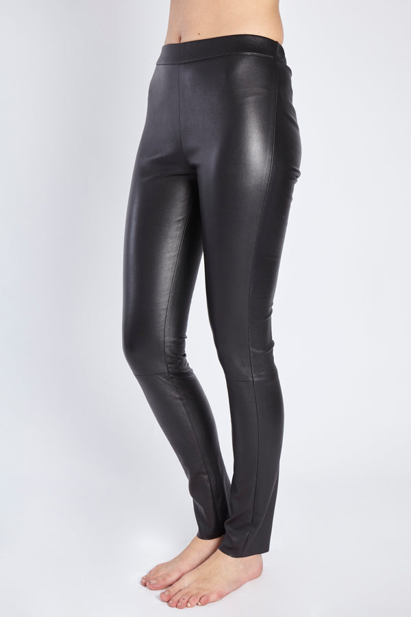 LEATHER LEGGINGS - BLACK