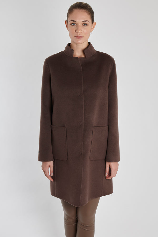 REVERSIBLE CASHMERE COAT-MARRON GLACE