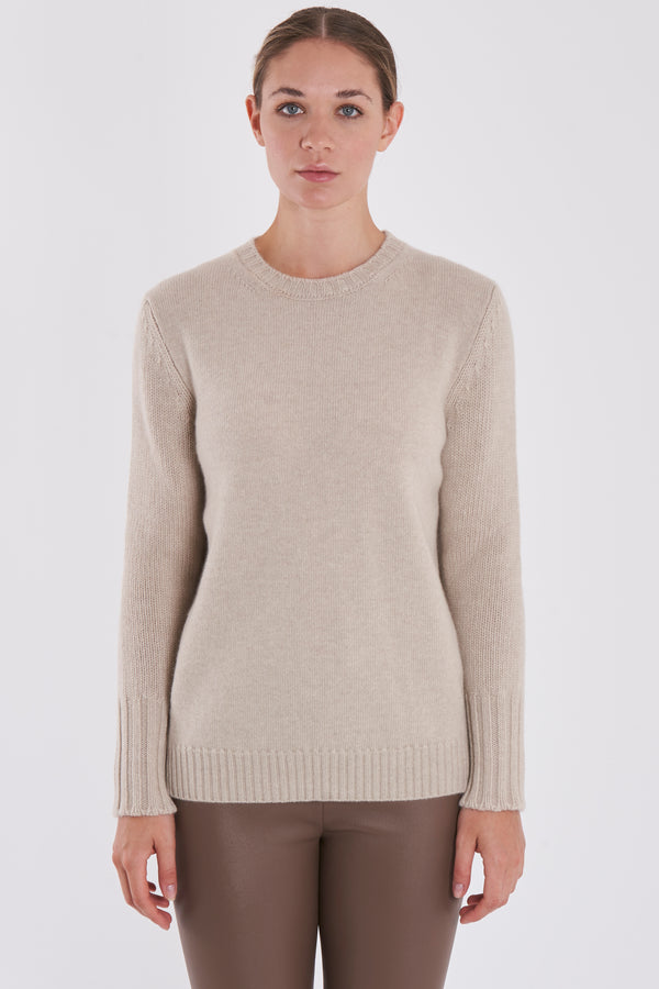 ROUND NECK JUMPER -ANGORA