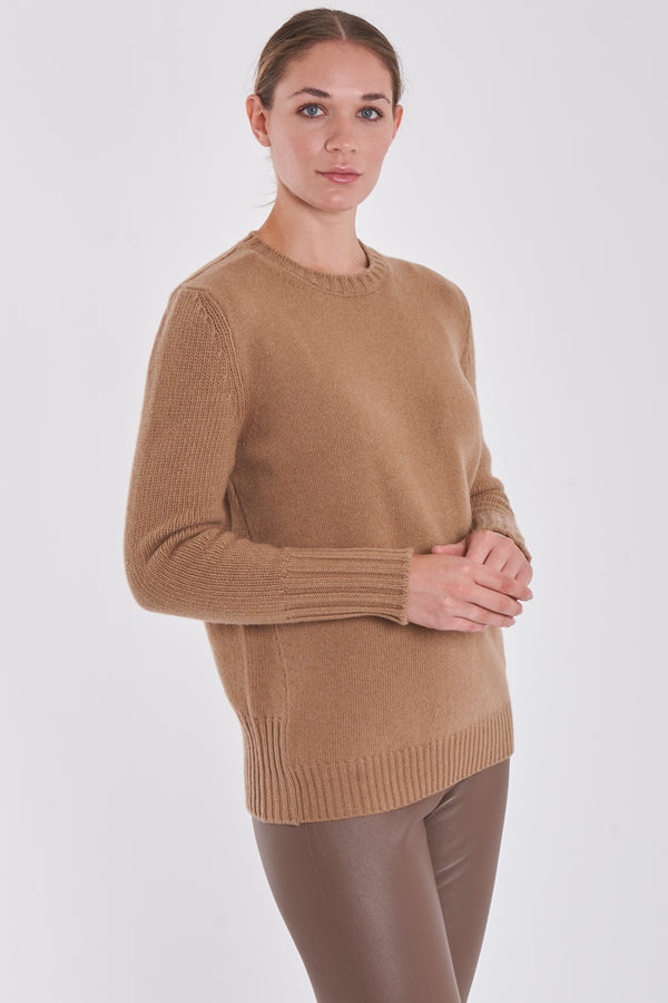ROUND NECK JUMPER-HONEY