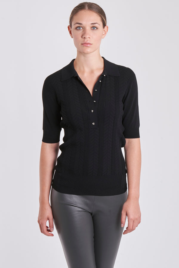 POLO SHIRT-BLACK