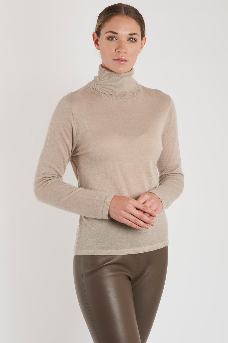 THIN TURTLE NECK-SAND