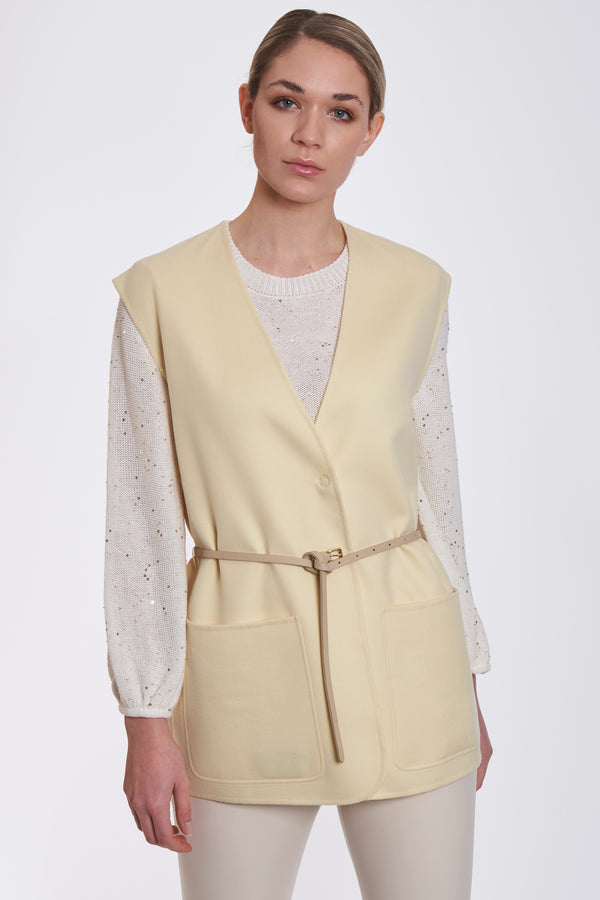 VEST WITH POCKETS-CITRIN