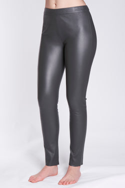 LEATHER LEGGING-GREY