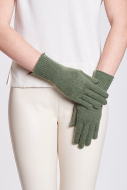 GLOVES-KAKI CHINE