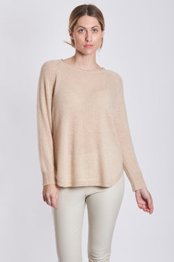 ROUND COLLAR ROUND BOTTOM-LATTE