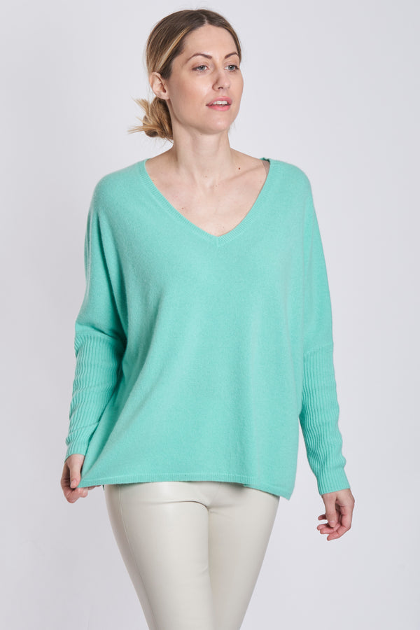 THIN PONCHO OVERSIZE V NECK
