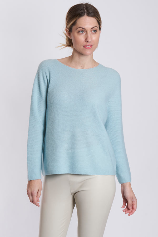 ROUND COLLAR DETAIL KNIT-AZUR