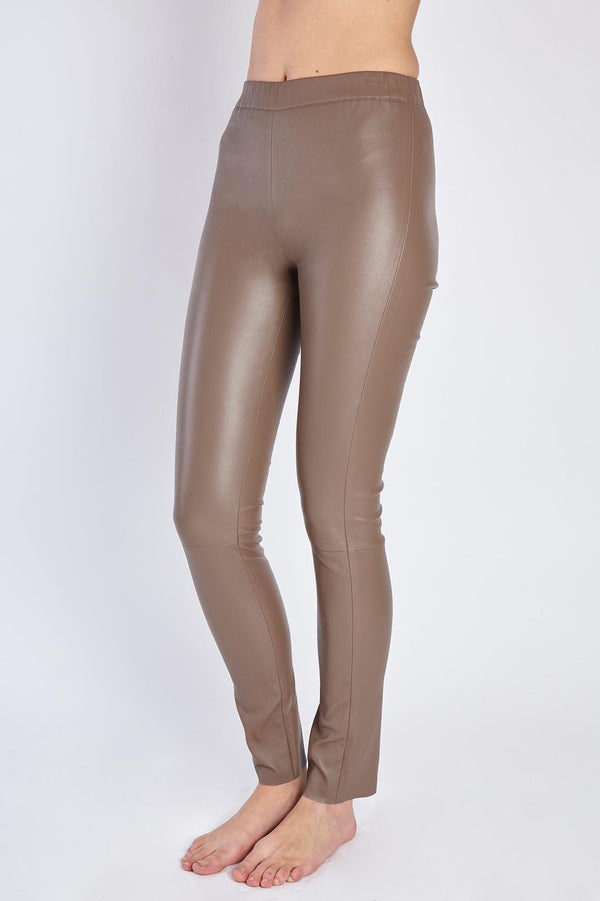 LEATHER LEGGING TAUPE
