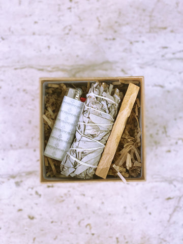 Sage and Palo Santo Cleansing Kit