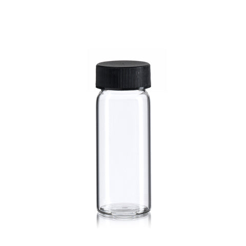 VIAL - 3/4 OZ. GLASS W/Lid