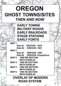 OR. GHOST TOWN SITES THEN & NOW