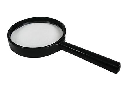 MAGNIFIER, Hand Held with 4 inch Glass Lens