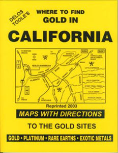 BOOK, WHERE TO FIND GOLD IN CALIFORNIA