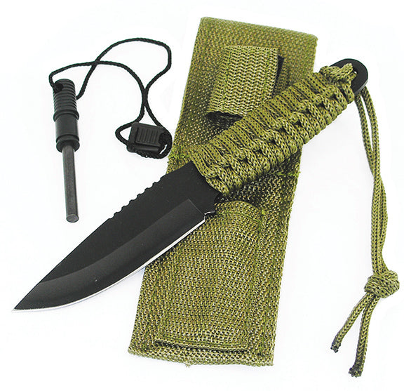 KNIFE, Survival Knife w/ Fire Starter