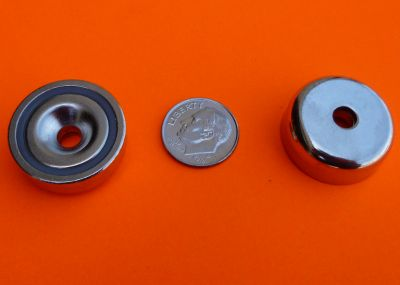 RARE EARTH MAGNET 49 LBS 1 INCH STRONG NEODYMIUM W/#10 COUNTERSUNK HOLE