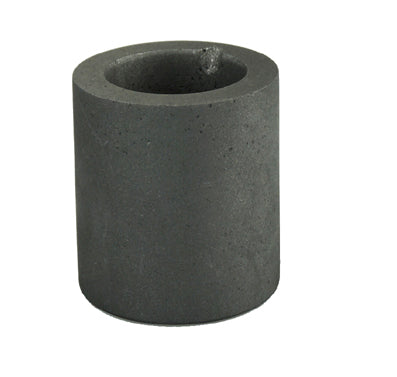 Graphite Crucible 2 1/2 Inch Diameter by 3 inches Deep