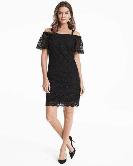 Off-the-Shoulder Lace Shift Dress, Dress, juliannaspena,- REHEART Canadian Online Wardrobe-Sharing Platform