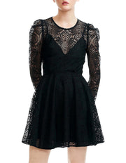 Rizone Skater Long Sleeve Lace Dress, Dress, paulina_b,- REHEART Canadian Online Wardrobe-Sharing Platform