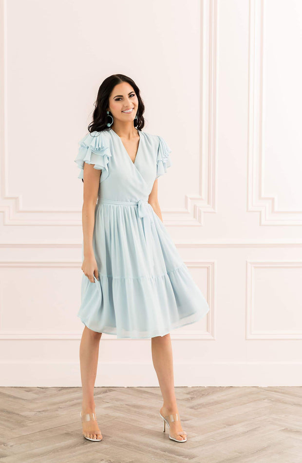 Cinderella Tiered Ruffle Sleeve Dress - REHEART 💜 Canadian Online Wardrobe-Sharing Platform